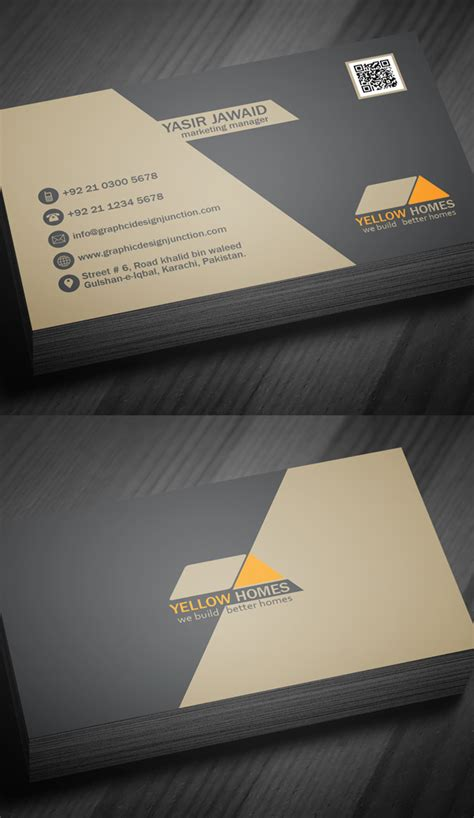 real estate business card template free business cards psd templates print ready design freebies graphic design junction