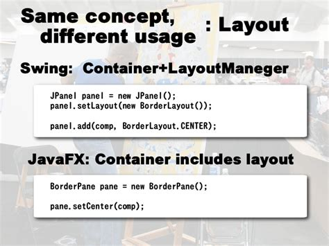 javafx layout center from swing to javafx