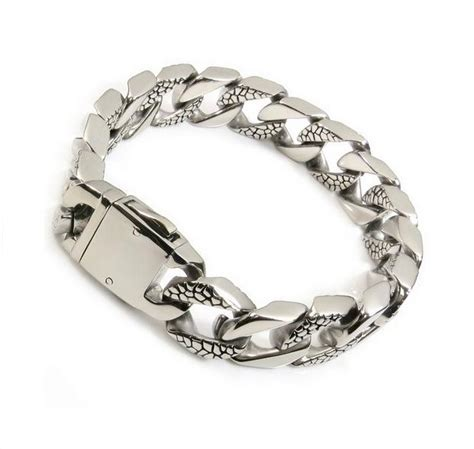 Gelang Pria Titanium jual gelang pria ekslusif big titanium steel bracelet