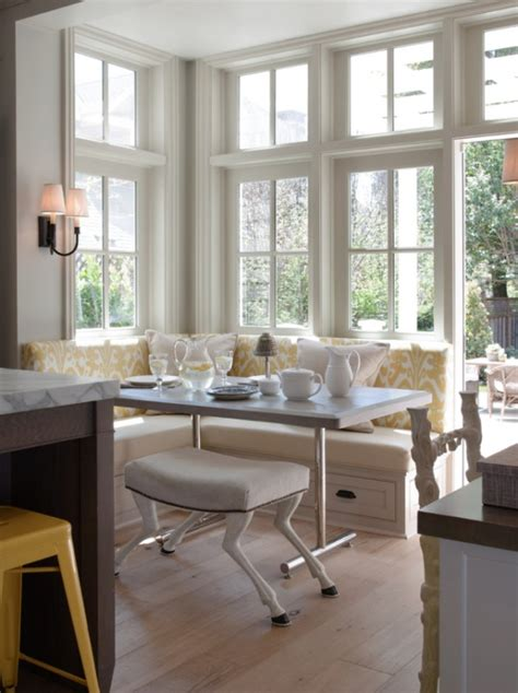 banquette breakfast nook remodelaholic trending now kitchen seating