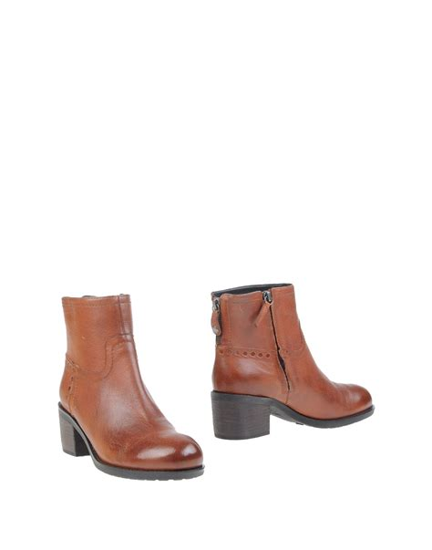 geox boots for geox ankle boots in brown lyst