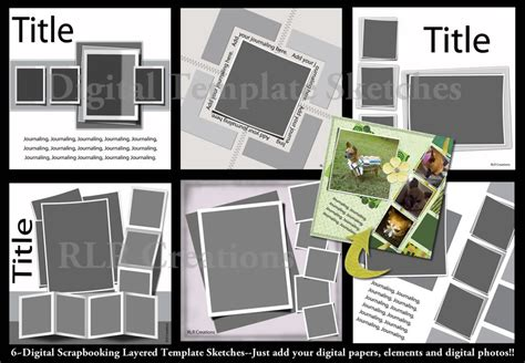 18 Free Digital Scrapbooking Templates Psd Images Free Digital Scrapbook Template Free Free Scrapbook Templates For Photoshop