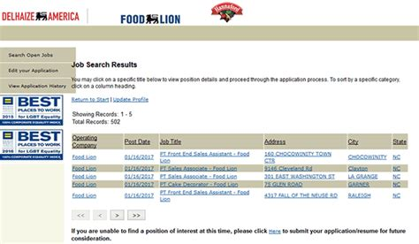 printable job application for food lion food lion job application recipes food