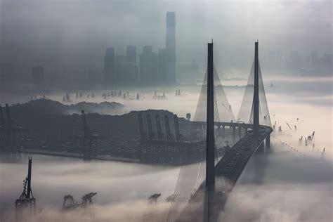 National Geographic Hongkong the fog and mist in hong kong photo by edward tin