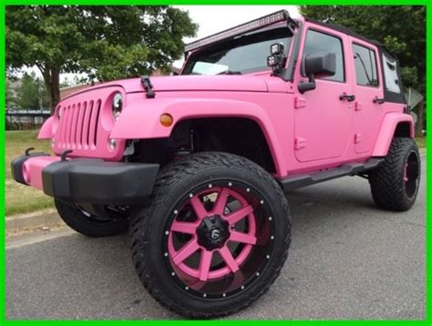 matte pink jeep matte pink paint 22 quot two wheels rigid lights jw