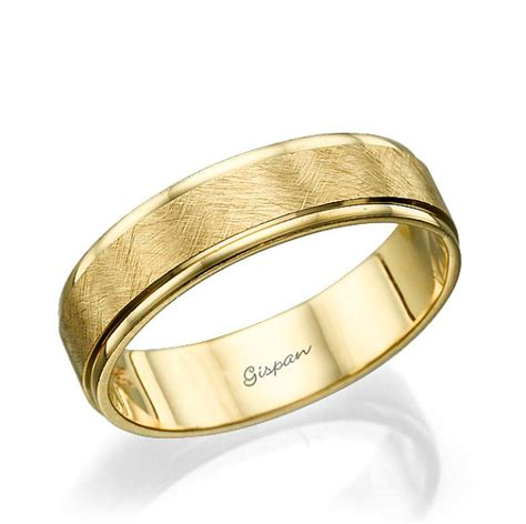 Eheringe Chagner Gold by Mens Wedding Band Mens Wedding Ring 14k Yellow Gold Ring