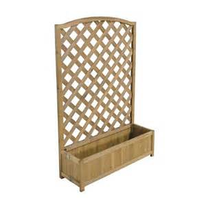 forest garden raised large trellis back planter