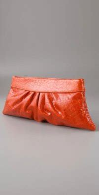 Merkin Patent Croc Clutch by Couture Carrie Orange You Excited