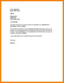 Professional Letter Of Resignation Template by 9 Professional Resignation Letter Sle With Notice Period Letter Format For