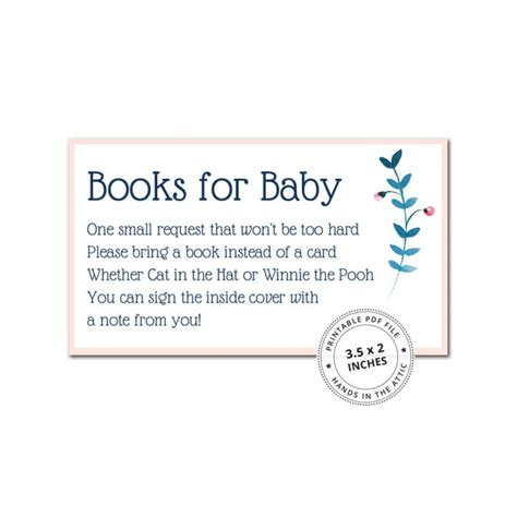 bring a book instead of a card baby shower templates baby shower inserts archives printable stationery