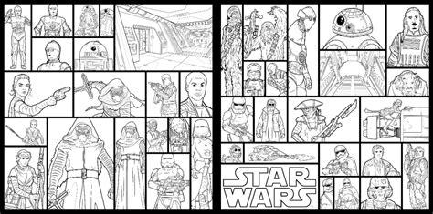 episode 1 coloring pages weitere konturen charakteren aus das erwachen der