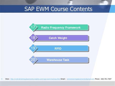 sap rfid tutorial sap ewm training sap ewm online training sap ewm course
