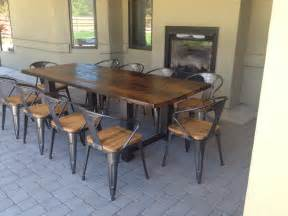 To create a large outdoor dining table www thecoastalcraftsman com