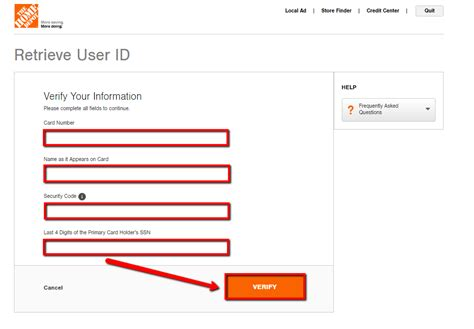 Home Depot Login Page by Home Depot Credit Card Login Make A Payment Creditspot