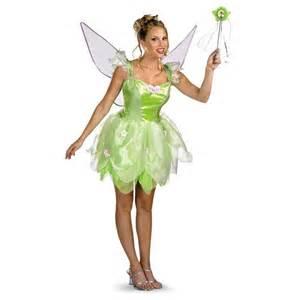 Tinkerbell Costume Tinker Bell Fairy Pixie Green Dress Up Halloween Dlx Teen Costume W Wings Ebay