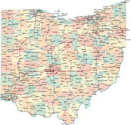 Ohio Map Google by Ohio Map Mapsof Net