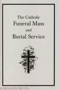 Catholic Funeral Mass Order Of Service Template by Catholic Funeral Mass And Burial Service