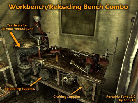 new vegas reloading bench portable tent fallout new vegas houses images