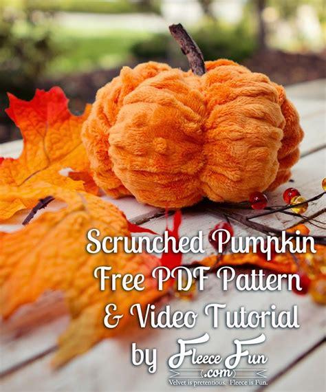 minky pumpkin tutorial u create