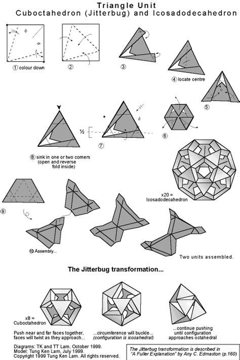 How To Make Transforming Origami - wow modular origami jitterbug transforming polyhedra got