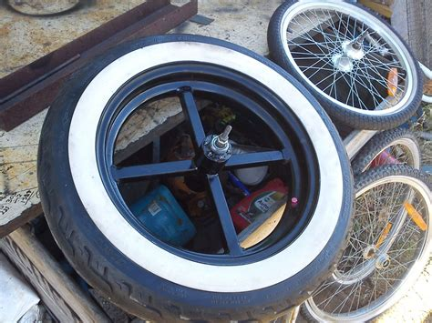 Handmade Bike Wheels - wide bike wheel hubs and joining them to car rims