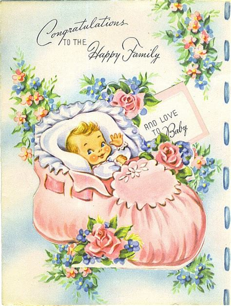 994 best images about vintage baby cards on