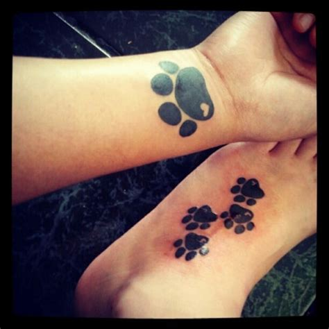 paw prints on wrist 35 awesome wrist paw tattoos