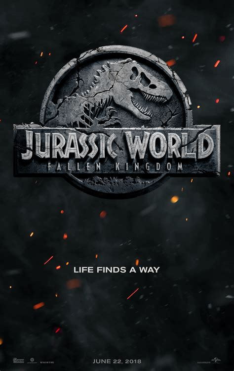 film jurassic world jurassic world 2 gets official title and first poster