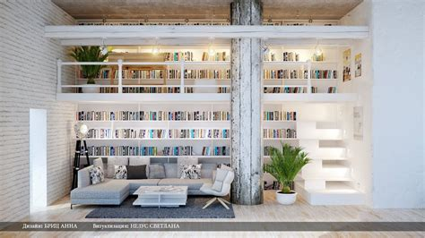 modern home library interior design gray white dual level home library interior design ideas