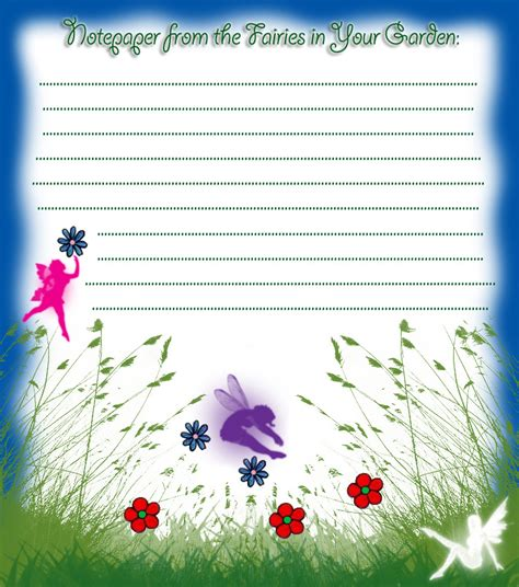 Letter Garden Free by Notepaper From The Fairies In Your Garden Rooftop Post