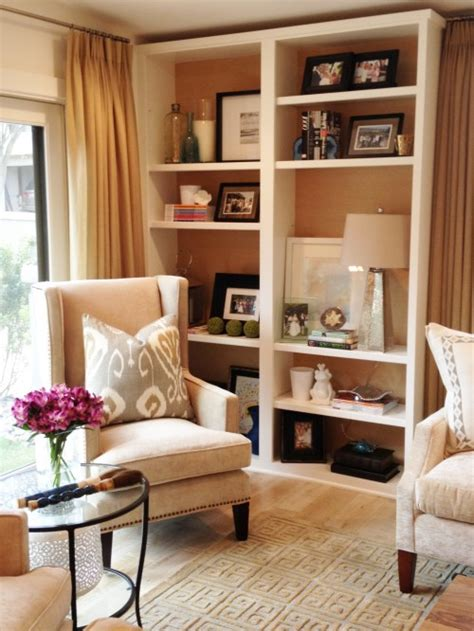 how to decorate bookshelves in living room living room shelving buy shelves and knock the back out a great way to decorate without
