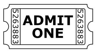 Admit One Ticket Template by Doc 500386 Free Printable Admit One Ticket Templates