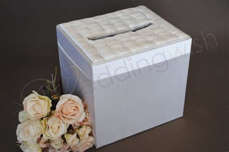 Wedding Box Wishing Well by Wedding Square Satin Wishing Well Box Ivory Or White