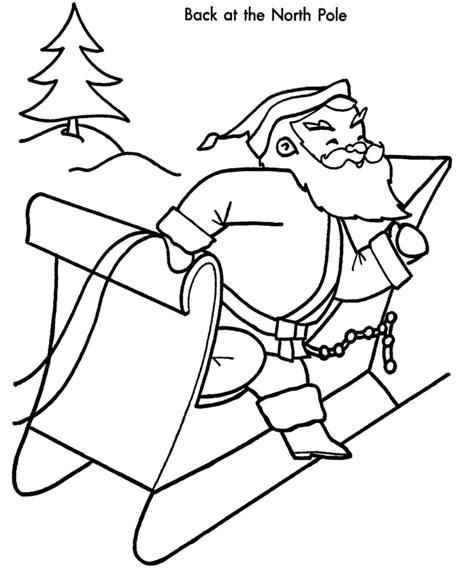 christmas coloring pages santa s workshop christmas santa coloring page christmas santa at the