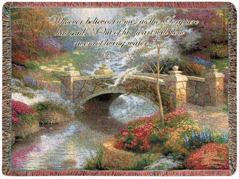 bridge of hope tapestry afghan throw w verse thomas