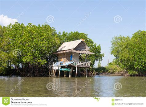 thai home near the river stock photo image of antique