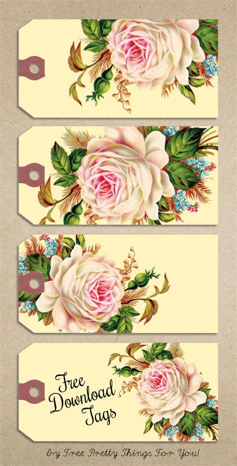 printable rose images free printable gift tags vintage rose manila tags free