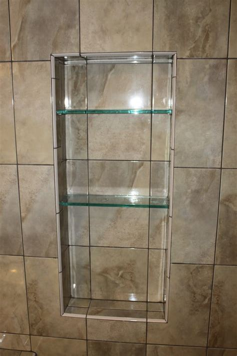 Built In Shower by Custom Built In Shower Shelving By Popescu Construction Yelp