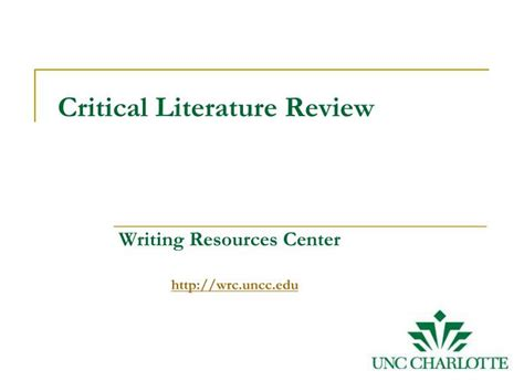 Critical Literature Review Define by Ppt Critical Literature Review Powerpoint Presentation Id 5841920
