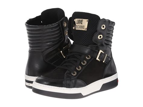 High By Moschino moschino high top sneakers black zappos couture