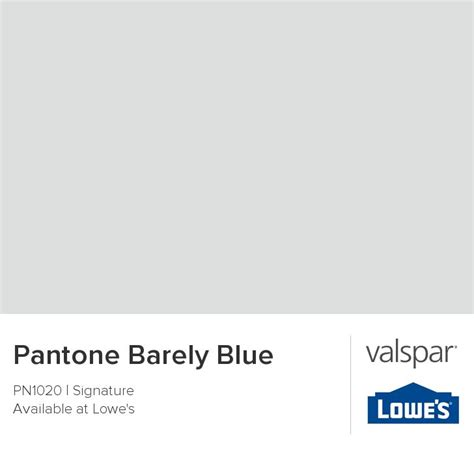 pantone barely blue from valspar paint colors
