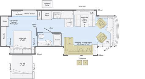 winnebago floor plans class c journey floorplans winnebago rvs