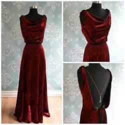 Velvet Vintage Wedding Dresses by Velvet Wedding Dress Backless 1930 1920 Deco