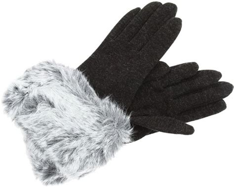 On Our Radar Voguecoms Oracle 2008 Revealed by Echo Design Jersey Faux Fur Cuff Gloves 8 Fabulous Faux Fur