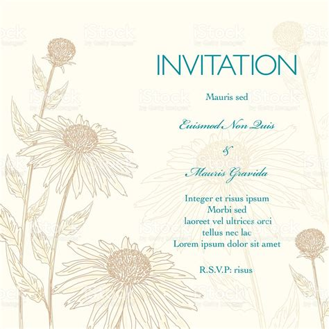 Background Of Wedding Invitation by Daisies Floral Wedding Invitation Background Stock Vector