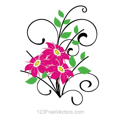 free vector graphics clipart flower bouquet vector clip 123freevectors