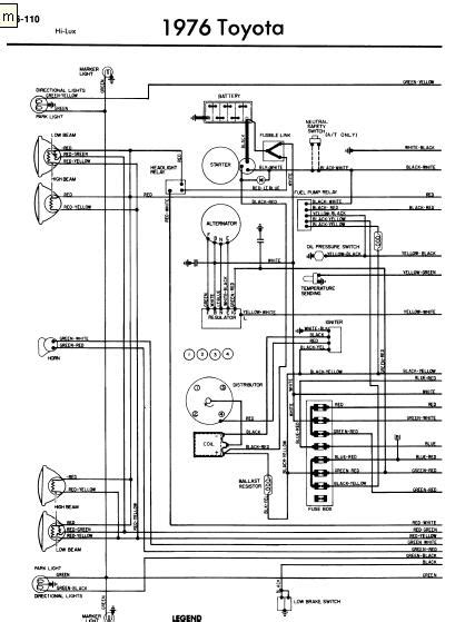 repair-manuals: Toyota Hilux 1976 Wiring Diagrams