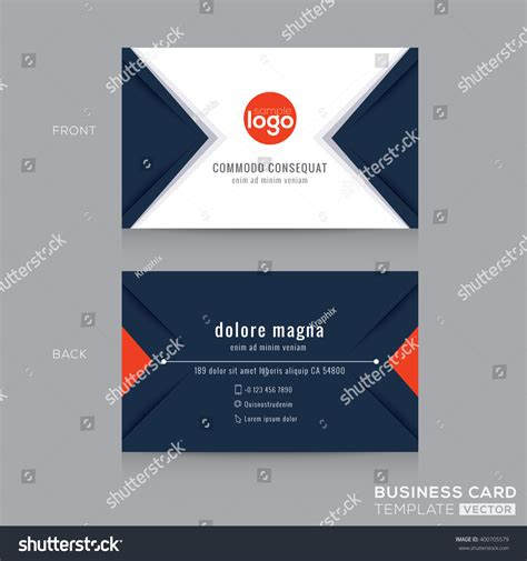 navy business cards template abstract modern navy blue triangle business stock vector