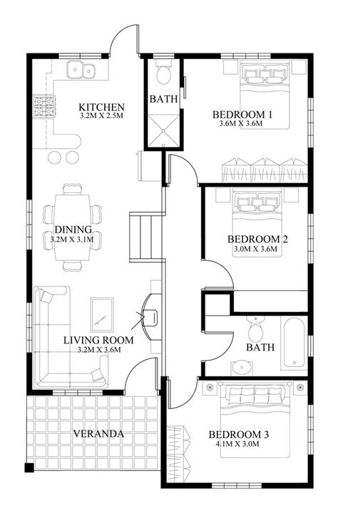 2 small house plans best 25 modern house floor plans ideas on