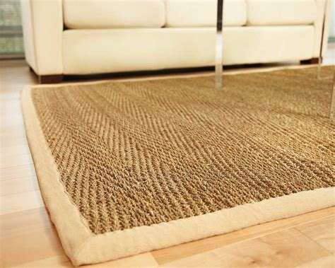 seagrass rugs anji mountain saddleback seagrass jute area rugs fiber spun